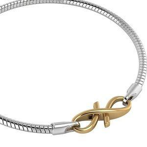 Sterling Silver Bracelet Gold Plated Lock 7 3/4 in